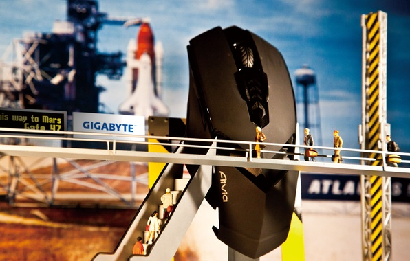 Picture mouse, start, spaceport, GigaByte, to Mars, Aivia