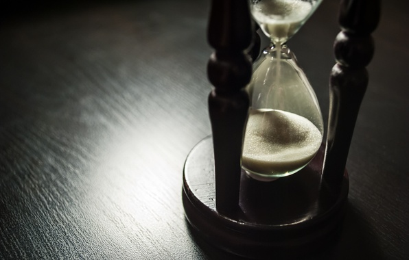 Picture wood, sand, time, hourglass