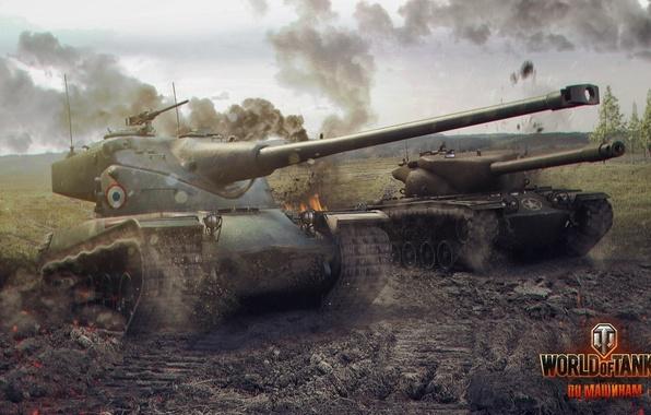 Picture France, tank, USA, USA, tanks, France, WoT, World of tanks, tank, World of Tanks, tanks, …