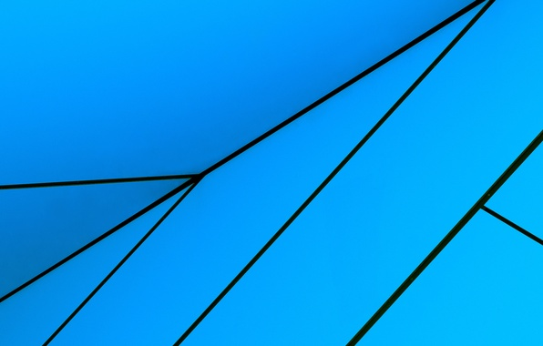 Picture line, blue, abstraction, blue, Wallpaper, arrow, angle, geometry