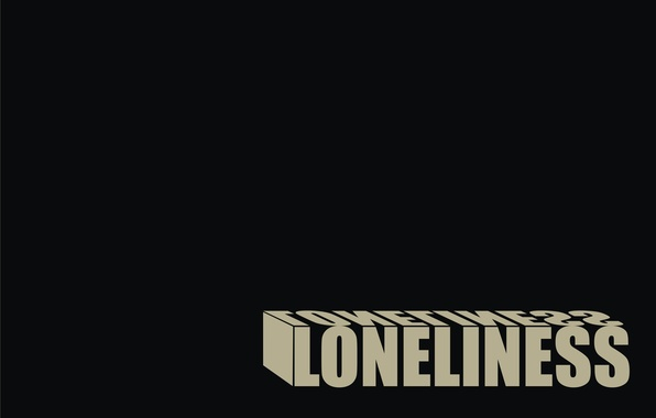 Picture loneliness, black, loneliness