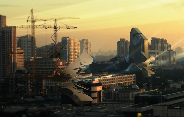 Picture crane, Moscow, Building