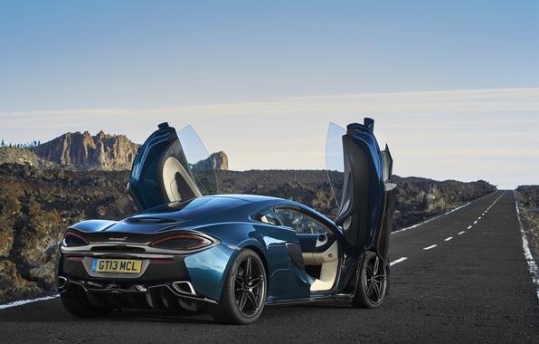 Picture road, auto, up, McLaren, door, supercar, open, 570GT