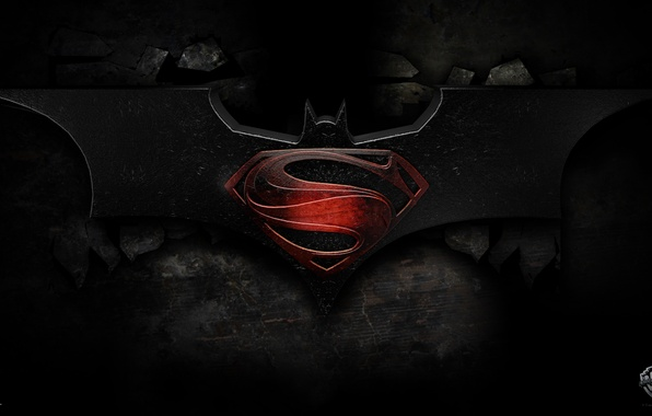 Photo Wallpaper Logo Batman Comic Superman DC Comics Warner Bros