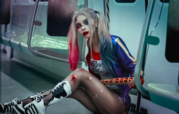 Picture Movie, Harley Quinn, Cosplay, Suicide Squad,  DCcomics