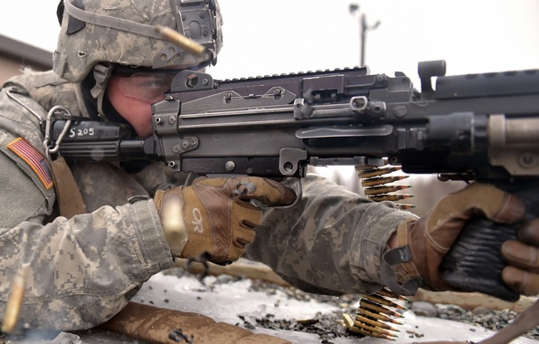Picture weapons, army, shot, soldiers