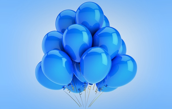 Picture balloons, blue, celebration, holiday, balloons