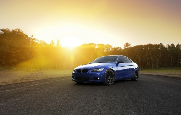 Picture car, the sun, BMW, rechange, hq Wallpapers, bmw 3 series
