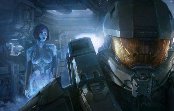 Picture armor, hologram, Cortana, Xbox 360, John, Chief, John-117, Sierra-117, The Master Chief, Sierra 117, Petty …