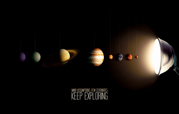 Picture lamp, solar system, Planets