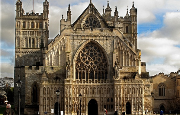 Picture Gothic, England, Church, Cathedral, architecture, Cathedral, England, Church, St. Peter, Cathedral, of St. Peter, Exeter