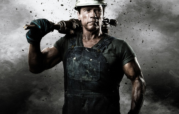 Picture look, man, actor, Arnold Schwarzenegger, Arnie, Iron, Power Kowa