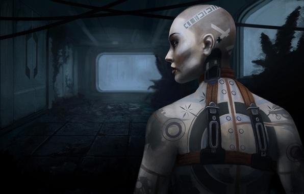 Picture girl, tattoo, art, tattoo, Mass Effect 2, Jack, Jack