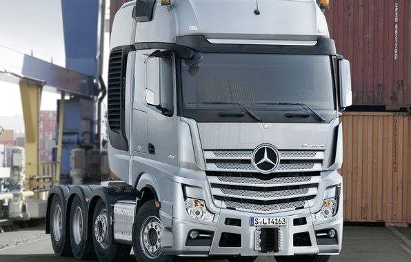 Picture port, Mercedes, Benz, tractor, Actros