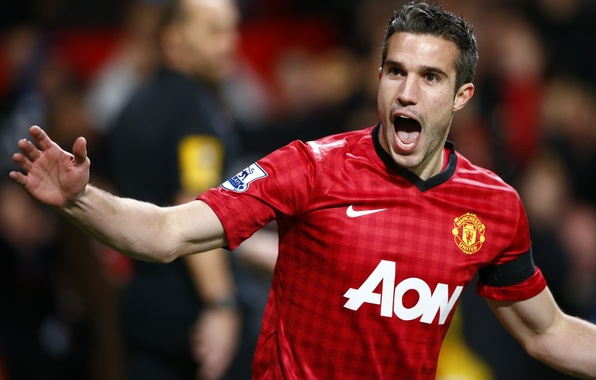 Picture star, football, Manchester United, old trafford, robin, van persie, red devil, holland