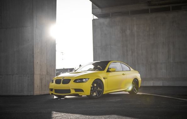 Picture BMW, Tuning, BMW, Yellow, Drives, tuning, E92