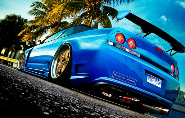 Picture tuning, photoshop, nissan, skyline, r33