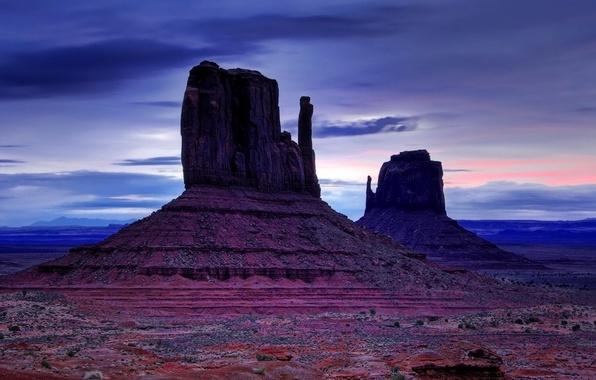 Picture rocks, desert, Mountains