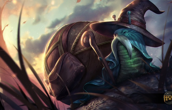 Picture snail, hat, MAG, staff, Heroes of Newerth, Shellshock, Packsnail