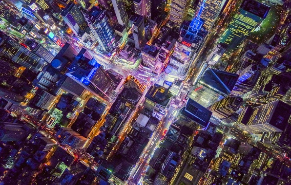 Picture light, night, the city, USA, New York, the view from the top