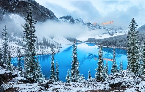 Picture clouds, snow, mountains, lake, photographer, Alexei Suloev