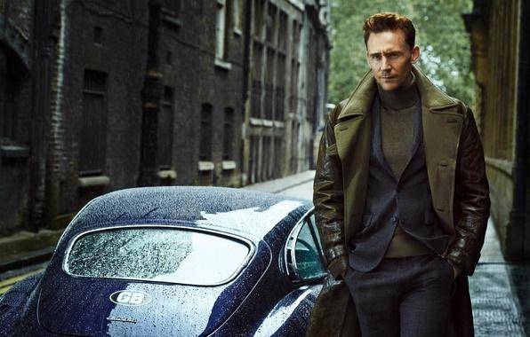 Picture machine, Jaguar, costume, actor, male, Tom Hiddleston, Tom Hiddleston