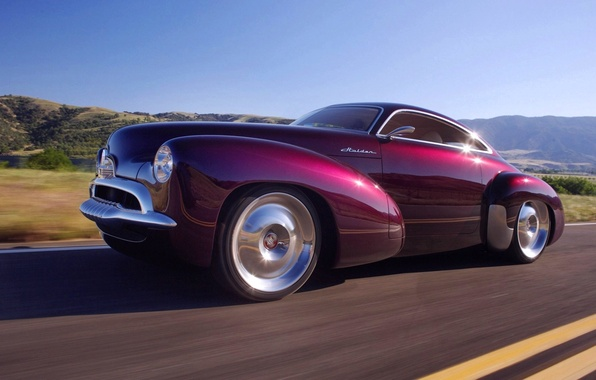 Picture road, the sky, mountains, lights, coupe, holden