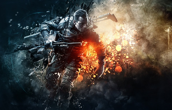 Download Wallpaper 1280x1280 Battlefield 4 Game Ea: Wallpaper Electronic Arts, Soldier, Battlefield 4, Video