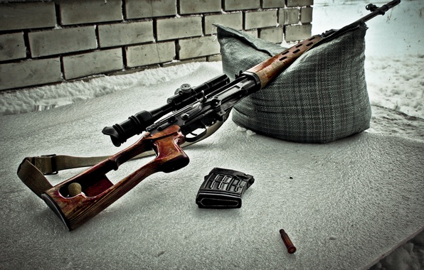 Picture weapons, optics, pillow, strap, SVD, rifle, sleeve, sniper, clip, Dragunov
