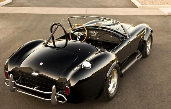 Picture Shelby, Classic, Black, Cobra, Back, Cabrio, 427