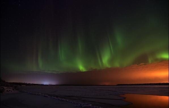 Picture landscape, night, lights