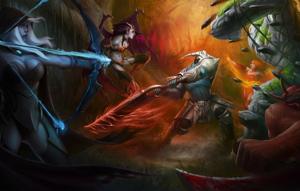 wallpaper dota defense of the ancients the battle heroes images