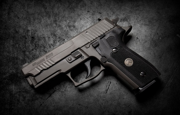Photo Wallpaper Gun Background SIG Sauer P229