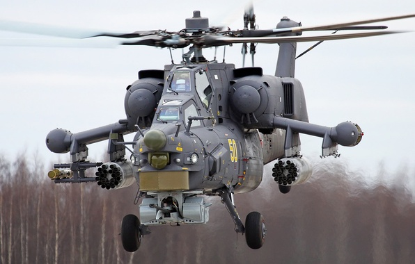 Picture helicopter, Mi-28N, shock