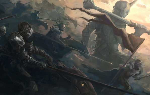 Picture weapons, army, war, giant, banner