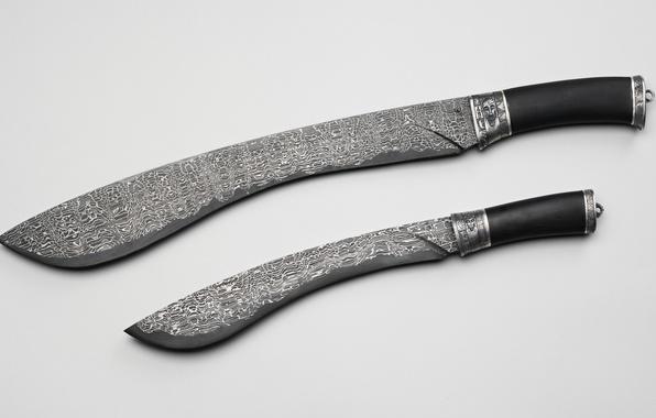 Picture weapons, pattern, knife, machete, Damascus steel