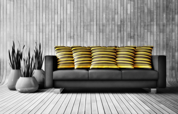 Picture colors, wood, decoration, couch