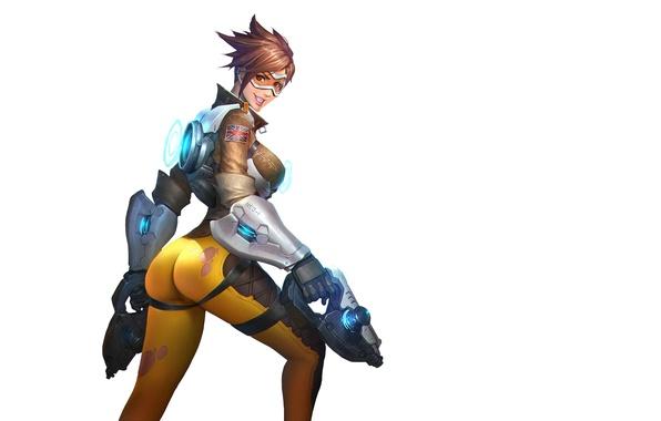 "Picture Chest, Look, Smile, Weapons, ass, Ass, weapon, Gun, Beautiful girl, nice ass, Overwatch, Серия ""Overgirl …"