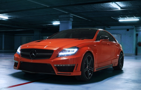 Picture machine, lights, tuning, Mercedes-Benz, Mercedes, AMG, the front, handsome, CLS 63, German Special Customs, GSC