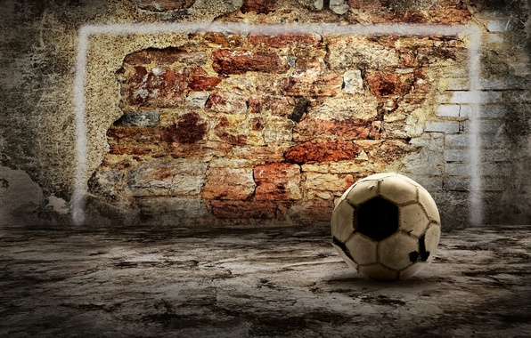 Picture wall, the ball, brick, wall, ball, brick