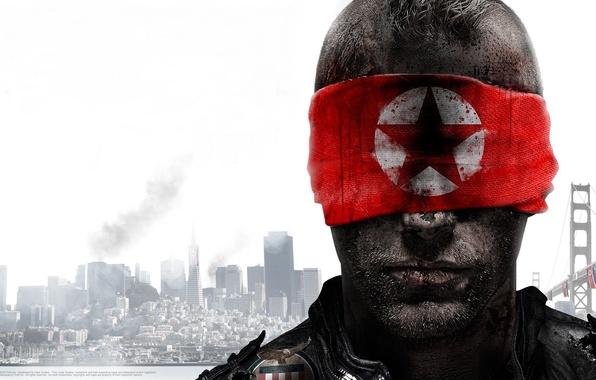 Picture war, star, headband, homefont