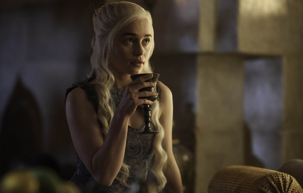 Picture Actress, The series, screenshot, Cup, Game of Thrones, Game of thrones, Emilia Clarke, Emilia Clarke, ...