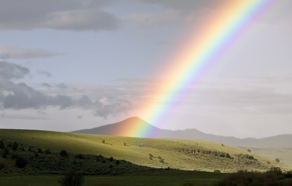 Picture rainbow, USA, Oregon, Mitchell