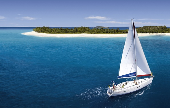 Picture Islands, the ocean, yacht