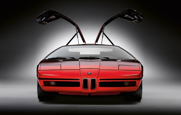 Picture red, concept, BMW, turbo