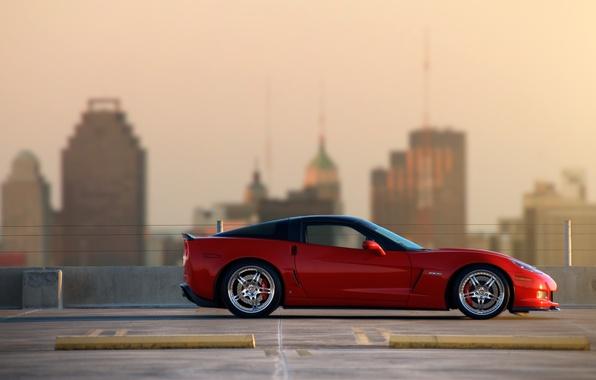 Picture red, supercar, z06, chevrolet corvette, Chevrolet Corvette