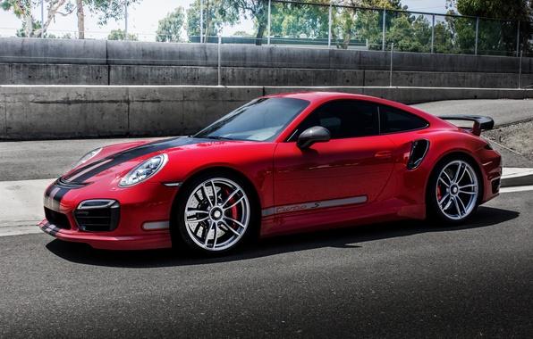 Picture red, coupe, 911, Porsche, Porsche, Coupe, Turbo, turbo, TechArt