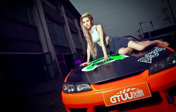 Picture girl, S15, Silvia, Nissan, Asian