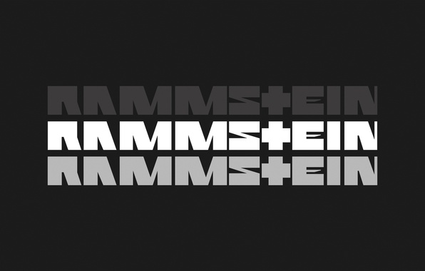 Picture grey, the inscription, Rammstein, industrial