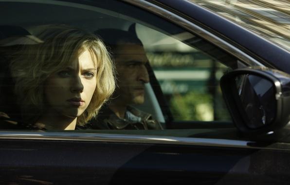 Picture auto, frame, Scarlett Johansson, blonde, Scarlett Johansson, Lucy, police, Lucy, Amr Waked, AMR Waked